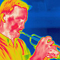 A Thermogram Of A Musician Playing by Ted Kinsman
