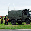 A Unimog Vehicle Of The Belgian Army by Luc De Jaeger