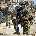 A U.s. Army Soldier Provides Security by Stocktrek Images
