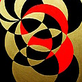 Abstract In Gold Black And Red by Marie Schwarzer