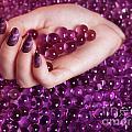 Abstract Woman Hand With Purple Nail Polish by Oleksiy Maksymenko