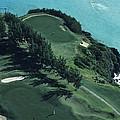 Aerial Of A Golf Course In Bermuda by Kenneth Garrett