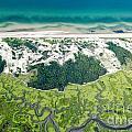Aerial Vew Of Sandy Neck Beach In Barnstable On Cape Cod Massac by Matt Suess