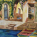 Afternoon At The Piazzo by Kimberlee Weisker