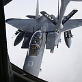 Air Refueling A F-15e Strike Eagle by Daniel Karlsson
