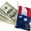 American Flag Wallet With 100 Dollar Bills by Blink Images