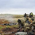 An 81mm Mortar Team Live Firing by Andrew Chittock