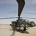 An Ah-64d Apache Helicopter At Cob by Terry Moore