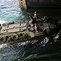 An Amphibious Assault Vehicle Enters by Stocktrek Images