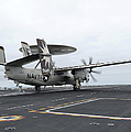 An E-2c Hawkeye Launches Off The Flight by Stocktrek Images