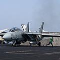 An F-14d Tomcat In Launch Position by Gert Kromhout