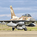 An F-16b Netz Of The Israeli Air Force by Giovanni Colla