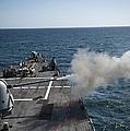 An Mk-45 Lightweight Gun Is Fired by Stocktrek Images