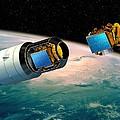 Ariane 5 Payload Deployment, Artwork by David Ducros