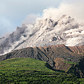 Ash And Gas Rising From Lava Dome by Richard Roscoe
