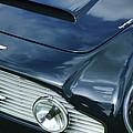 Aston Martin 1963 Aston Martin Db4 Series V Vintage Gt Grille Emblem -0140c by Jill Reger