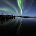 Aurora Borealis Over Long Lake by Jiri Hermann