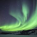 Aurora Borealis Over Prosperous Lake by Jiri Hermann