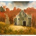 Autumn Rustic Barns by Imran Virk