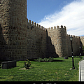 Avila Ancient Castle Wall Spain by John Shiron