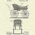 Baby Carriage 1886 Patent Art by Prior Art Design