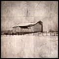 Barn In Snow by Jill Battaglia