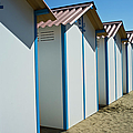 Beach Cabins In Venice, Italy by Axel Fassio