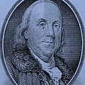 Ben Franklin In Cyan by Rob Hans