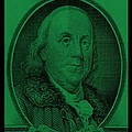 Ben Franklin In Dark Green by Rob Hans