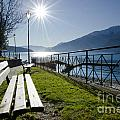 Bench In Backlight by Mats Silvan