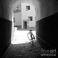 Bicycle In Tunnel by Gordon Wood