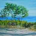 Bikes Waiting by Susan Hanna