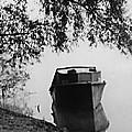 Boat On Foggy Rhine by Bob Wall