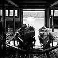 Boathouse At Maligne Lake by Ginevre Smith
