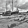 Boats And Logs At Pin Mill  by Gary Eason