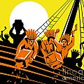 Boston Tea Party Raiders Retro by Aloysius Patrimonio