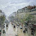 Boulevard Montmartre by Camille Pissarro