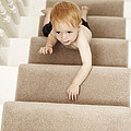 Boy Climbing Stairs by Ian Boddy