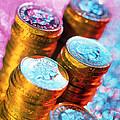 British Pound Coins by Tek Image