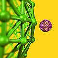 Buckyball Molecules, Artwork by Victor Habbick Visions