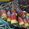 Buoys and Crabpots on the Oregon Coast by Carol Leigh