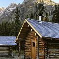 Cabin In Yoho National Park, Lake by Ron Watts
