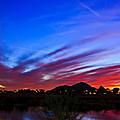 Camelback Mountain At Sunset by Michael Brondum