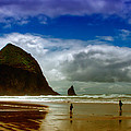 Cannon Beach At Dusk by David Patterson