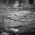 Canoe On The Thornapple River by Randall Nyhof
