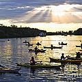 Canoeing by Elena Elisseeva