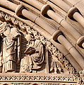 Carved Stone Biblical Mural Above Catholic Cathedral Doorway by Gary Whitton