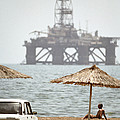 Caspian Sea Oil Rig by Ria Novosti