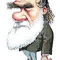 Charles Darwin, Caricature by Gary Brown