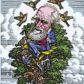 Charles Darwin In His Evolutionary Tree by Bill Sanderson